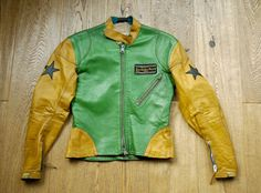 1970s Lewis Leathers Custom Made Two Tone Rock&Roll Motocross Jacket with Stars