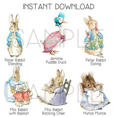 INSTANT DOWNLOAD Peter Rabbit Cut-Out Stands 12 by strangers