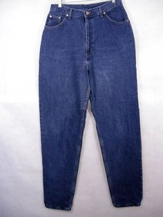fefdb6cac3 Chic High Waisted Tapered Leg Denim jeans Size 14 Medium Wash Vintage 90 s  Mom Jeans 90s