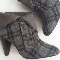 Fold over ankle booties New - tried on but never worn. Cute button details. Versatile shoe that can be worn with almost anything!!  Bundle for best deals!! Hundreds of items available for discounted bundles- items starting as low as $5! You can get lots of items for a low price and one shipping fee!  Follow on IG: @closethslmr Diba Shoes Ankle Boots & Booties