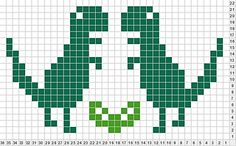 crochet dinosaur patterns Ravelry: King Dinosaur Chart (for My Favourite Things Scarf) pattern by Louise Lavender Crochet Dinosaur Patterns, Baby Boy Knitting Patterns, Fair Isle Knitting Patterns, Knitting Charts, Knitting Designs, Knitting Stitches, Knitting Projects, Baby Knitting, Filet Crochet