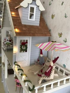 See how Chicagoean decorates a wooden Barbie Martin Dollhouse Country Dollhouse kit. Barbie, Monster High, or any fashion doll will love it. Wall Trim, Dollhouse Kits, Last Christmas, Kit Homes, Dollhouse Furniture, Fashion Dolls, To My Daughter, Country, Wallpaper