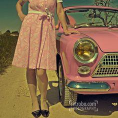 Pink car...