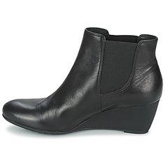 Authentique Geox VENERE A Noir Femme Bottines Boots