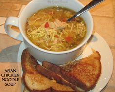 Asian Chicken Noodle Soup: Slow Cooker - a nice change that's perfect for a frosty fall day.