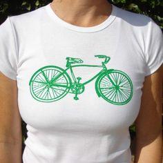 Green Bike Tee....Something Green.