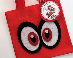 Conjunto de 12 Super Mario odisea Favor bolsos con personalizado etiquetas gracias, Mario Favor bolsas, bolsas de Mario, Mario Party, Mario cumpleaños, Alfonso Sandoval Brochero