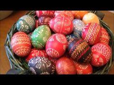 Ostereier gestalten und färben - Sorbische Wachsmaltechnik - YouTube