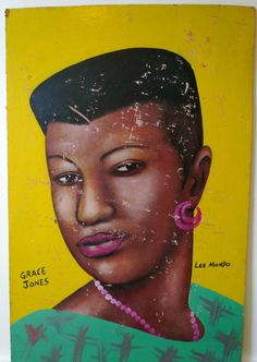 West African Barber Shop Sign Grace Jones by by brooklynsweetpea