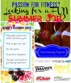 Become a coach and BE the motivator!  PERFECT summer job!! www.jrfitnesscanada.com for more info!