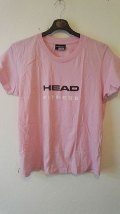 HEAD Fitness Ladies T Shirt Pink Crew Neck 100% Cotton Size 18 NWOT