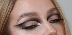 Dope Makeup, Edgy Makeup, Makeup Eye Looks, Eye Makeup Art, Makeup Goals, Pretty Makeup, Skin Makeup, Makeup Inspo, Eyeshadow Makeup