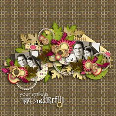 Bouquet of autumn leaves by Tiramisu Designs  Nearly autumn template pack by Tinci Designs