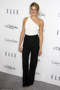 Sophisticated style: Shailene Woodley was so chic in black and white...