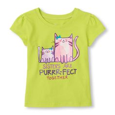 Short Sleeve Cats 'Sisters Are Purrr-fect Together' Graphic Tee | The Children's Place