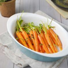 Carrots + Orange scented thyme + Orange juice = Best carrots you've ...