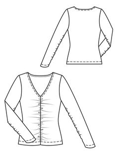Shirred Appeal Top Burda Patterns, Clothing Patterns, Sewing Patterns, Sewing Ideas, Top Wedding Dresses, Ruched Dress, Wool Fabric, Couture, Diy Fashion