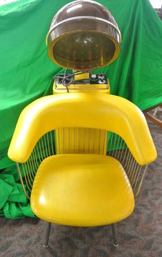 70's Style Vintage Salon Chair Electric Hair Dryer by PawnDetroit