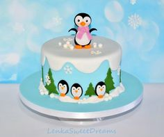 Winter penguins cake. by LenkaSweetDreams