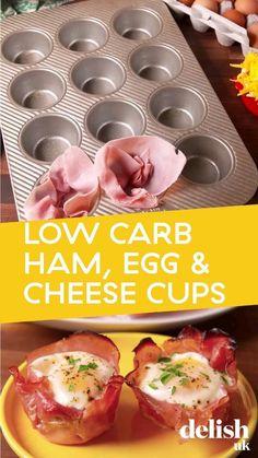 Healthy Low Carb Recipes, Healthy Breakfast Recipes, Brunch Recipes, Appetizer Recipes, Diet Recipes, Healthy Snacks, Cooking Recipes, Sandwich Recipes, Ham Recipes