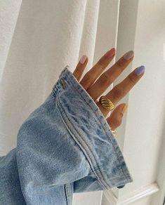 Cute Acrylic Nails, Cute Nails, Pretty Nails, Gel Nails, Nail Polish, Minimalist Nails, Milky Nails, Baby Blue Aesthetic, Mein Style