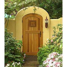 Wooden courtyard gate