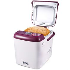 SKG Automatic Mini Bread Maker, 1 LB - Purple / White *** This is an Amazon Affiliate link. You can find more details by visiting the image link.
