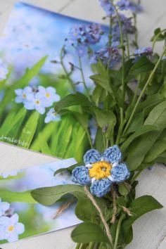 Vergeet-mij-nietjes ~ crochet ~ flowers