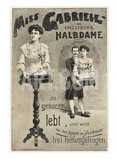 Freak Show Poster - Legless Woman Giclee Print at Art.com