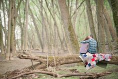 our engagement shoot in the woods - Julie Renee Photography