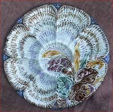 European Majolica Oyster Plate Wasmuel 1880 Oyster Bed, Oyster Shell Crafts, Victorian Life, Antique China, Oysters, Seafood, Vintage Ladies, Pottery, Plates