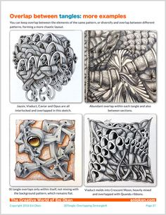 Learn how to create amazing Zentangle® through overlap • enioken.com
