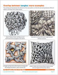 Learn how to create amazing Zentangle® through overlap • enioken.com