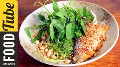 Seabass & Lemongrass Noodle Bowl | Thuy Pham-Kelly. Recipe for this meal from Jamie Oliver's Food Tube on Youtube.