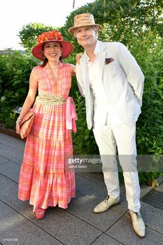 Marisol Deluna and Rod Keenan attend the 2018 High Line Hat Party at the The High Line on June 14, 2018 in New York City.
