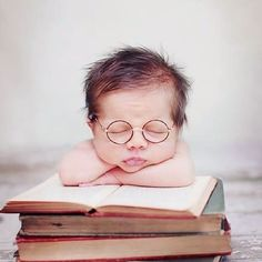Geek baby.. Tired of reading!