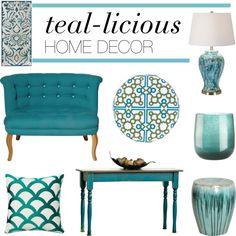 Teal decorative accents