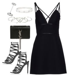 """Untitled #2916"" by charline-cote ❤ liked on Polyvore featuring Topshop, Yves Saint Laurent, Prada, Cartier and Zimmermann"
