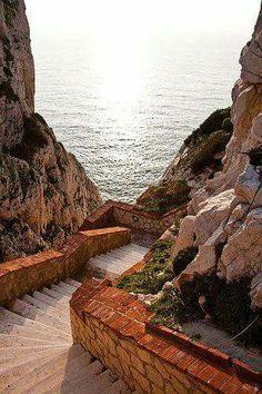 Steps To The Sea - Sardinia, Italy