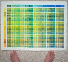 handprint : mixing green