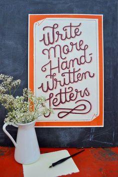 Write more handwritten letters by Mary Kate McDevitt