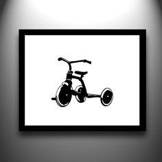 Cut Paper Bicycle Print