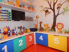 Boys Room Decor, Boy Room, Kids Room, Childcare Rooms, Kids Bedroom Organization, Painted Benches, Preschool Learning Activities, Kids Bunk Beds, Shared Rooms