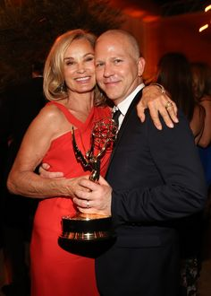 Jessica Lange & Ryan Murphy - 2012 Emmy Awards