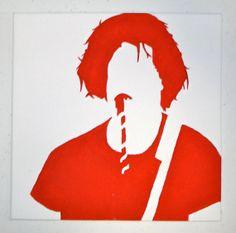 Jack White 8x8 Flat Panel Canvas by DanasJumble on Etsy, $25.00