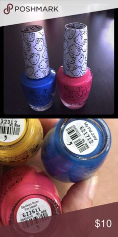 Hello kitty OPI polish bundle Colors: my pal Joey and spoken from the heart Hello Kitty Makeup