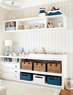 Quarto Bebe Quarto bebe storage room organization - Storage And Organization Baby Bedroom, Baby Boy Rooms, Baby Room Decor, Nursery Room, Kids Bedroom, Bedroom Decor, Kids Rooms, Ideas Dormitorios, Baby Furniture