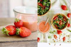Leckerer Sommersalat mit selbstgemachten Erdbeer-Dressing. Das einfache Rezept überzeugt!