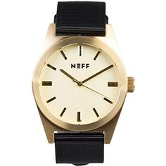 Neff Unisex NF0223GDBK Nightly Analog Display Japanese Quartz Black Watch. Stainless steel watch case, mineral crystal, Japanese three hand movement. Water resistant to 165 feet, nylon strap with PU lining. Japanese-quartz Movement. Case Diameter: 40mm. Water Resistant To 165 Feet.