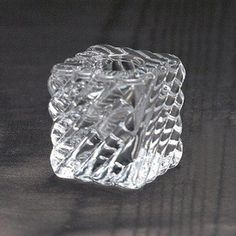 Glass Cube Taper Candle Holders, Set of 12